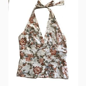 Tops - Halter Top in Floral Print